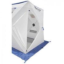 "Палатка ""Призма Люкс"" 150, 1-слойная, цвет бело-синий, фото 3"