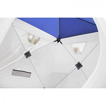 "Палатка ""Призма Люкс"" 170, 1-слойная, цвет бело-синий, фото 2"