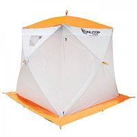 """Палатка """"Призма Люкс"""" 170, 1-слойная, цвет бело-оранжевый"""