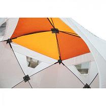 """Палатка """"Призма Люкс"""" 170, 1-слойная, цвет бело-оранжевый, фото 2"""