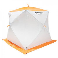 """Палатка """"Призма Стандарт"""" 170, 3-слойная, цвет бело-оранжевый"""