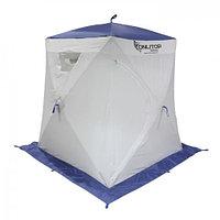"""Палатка """"Призма Люкс"""" 150, 3-слойная, цвет бело-синий"""