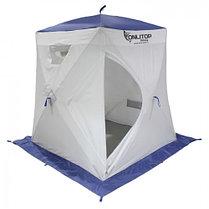 "Палатка ""Призма Люкс"" 150, 3-слойная, цвет бело-синий, фото 3"