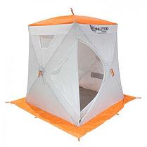 """Палатка """"Призма Люкс"""" 150, 3-слойная, цвет бело-оранжевый, фото 3"""