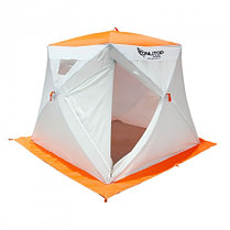 """Палатка """"Призма Люкс"""" 200, 3-слойная, с 1 входом, цвет бело-оранжевый, фото 2"""