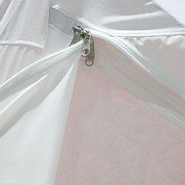 """Палатка """"Призма Люкс"""" 200, 3-слойная, с 1 входом, цвет бело-оранжевый, фото 3"""