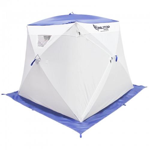 """Палатка """"Призма Люкс"""" 200, 1-слойная, с 1 входом, цвет бело-синий"""
