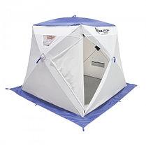 """Палатка """"Призма Люкс"""" 200, 1-слойная, с 1 входом, цвет бело-синий, фото 3"""