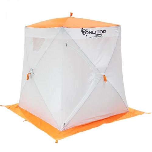 """Палатка """"Призма Люкс"""" 150, 2-слойная, цвет бело-оранжевый"""
