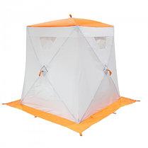 """Палатка """"Призма Люкс"""" 150, 2-слойная, цвет бело-оранжевый, фото 2"""