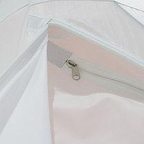 """Палатка """"Призма Люкс"""" 150, 2-слойная, цвет бело-оранжевый, фото 3"""