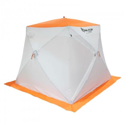 """Палатка """"Призма Стандарт"""" 200, 2-слойная, цвет бело-оранжевый"""