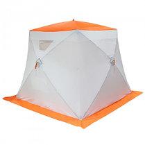 """Палатка """"Призма Стандарт"""" 200, 2-слойная, цвет бело-оранжевый, фото 2"""