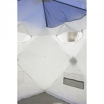 "Палатка ""Призма Люкс"" 150, 2-слойная, цвет бело-синий, фото 2"