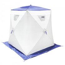 "Палатка ""Призма Люкс"" 150, 2-слойная, цвет бело-синий, фото 3"