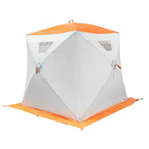 """Палатка """"Призма Люкс"""" 170, 3-слойная, цвет бело-оранжевый, фото 2"""