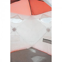 """Палатка """"Призма Люкс"""" 170, 3-слойная, цвет бело-оранжевый, фото 3"""