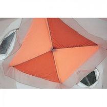 """Палатка """"Призма Люкс"""" 200, 2-слойная, с 2 входами, цвет бело-оранжевый, фото 3"""