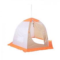 """Палатка """"Медведь"""" 2 местная, 6 лучей, оксфорд 210 верх брезент, фото 3"""