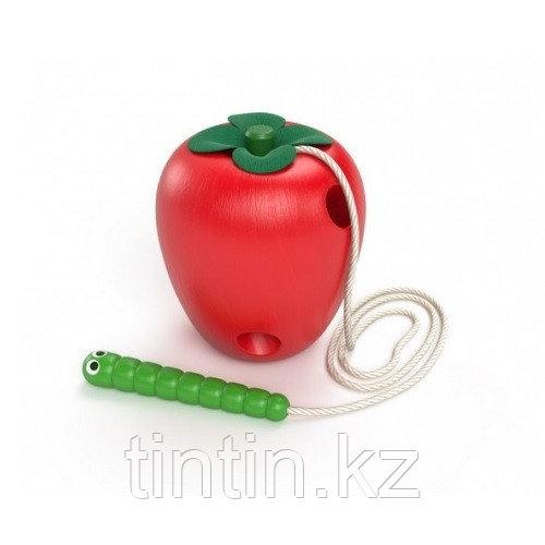 """Деревянная шнуровка """"Яблоко"""", 8 см"""