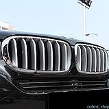"""Накладки на решётку BMW X6 F16 """" Серебро"""", фото 4"""