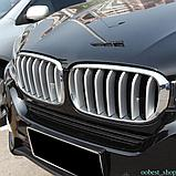 """Накладки на решётку BMW X6 F16 """" Серебро"""", фото 5"""