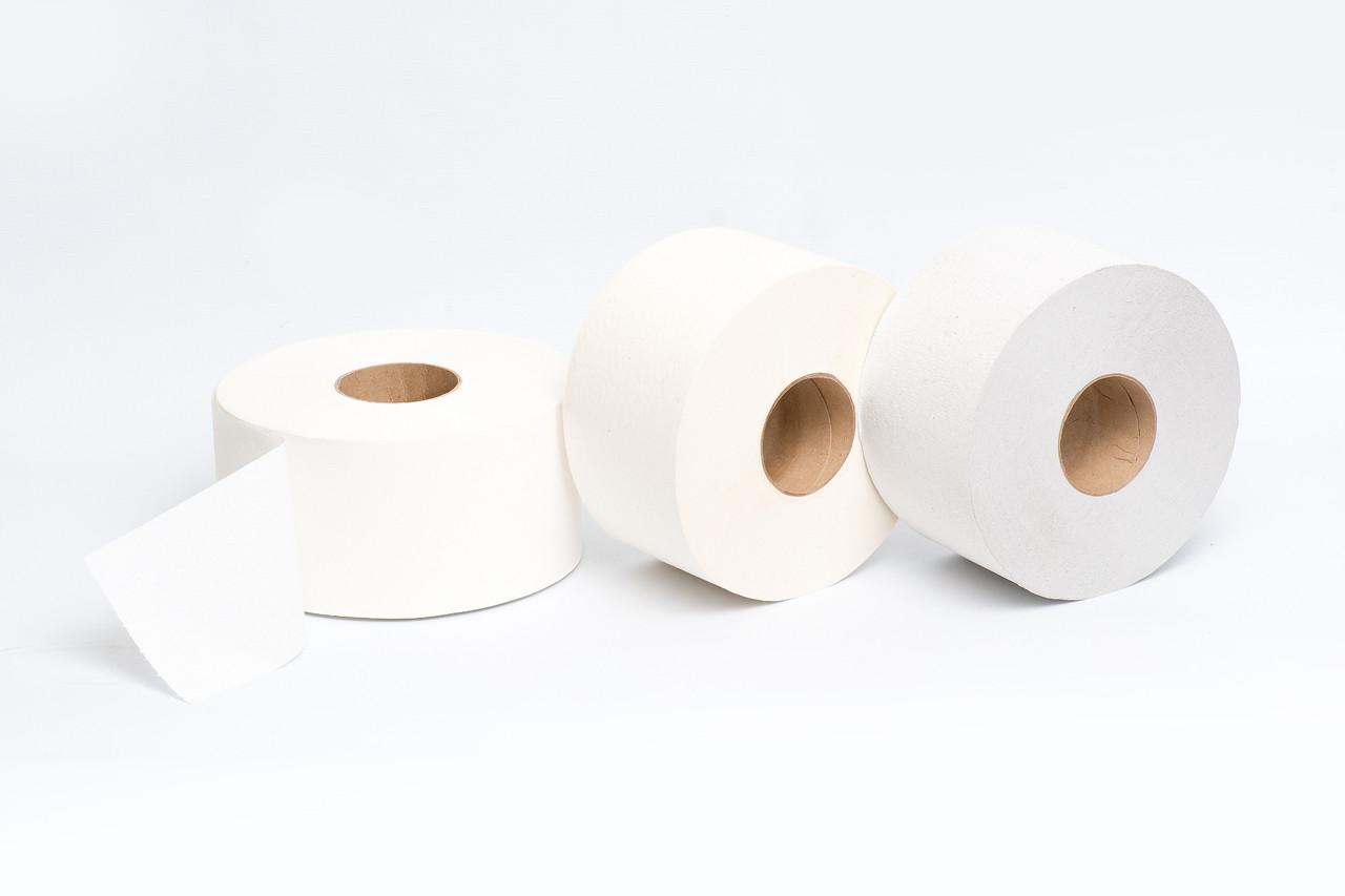 Туалетная бумага  200 м светло-серая Эконом