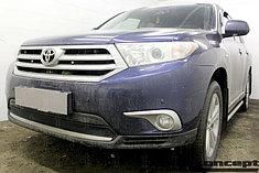 Защитно-декоративные решётки радиатора Toyota HIGHLANDER U40 2010-2013