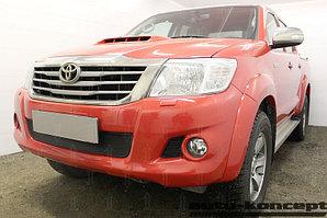Защита радиатора Toyota Hilux 2011-2015 black