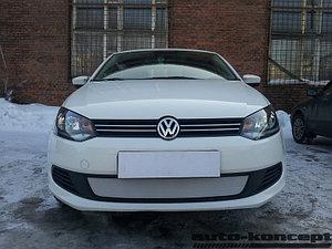Защита радиатора Volkswagen Polo седан 2010-2015 chrome