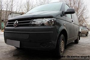 Защита радиатора Volkswagen T5 рестайлинг (Transporter, Multivan, Caravelle) 2009- black