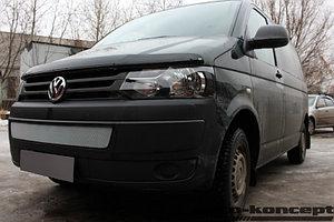 Защита радиатора Volkswagen T5 рестайлинг (Transporter, Multivan, Caravelle) 2009- chrome