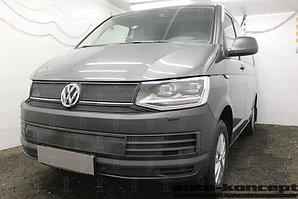 Защита радиатора Volkswagen T6 (Transporter,Multivan,Caravelle), (TrendLine) 2015- black низ