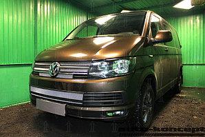 Защита радиатора Volkswagen T6 (Transporter,Multivan,Caravelle) 2015- (6 частей) chrome верх