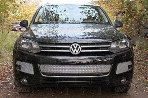 Защита радиатора Volkswagen Touareg II 2010-2014 центральная chrome