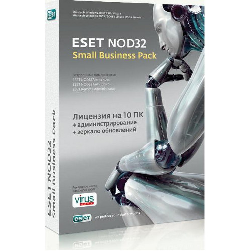 ESET NOD32 SMALL Business Pack база(1 год / 10 пользователей) электронный ключ