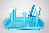 Сушилка для детской посуды, 26 см, голубая