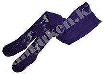 Детские теплые колготки Alena 9-11 лет фиолетовые