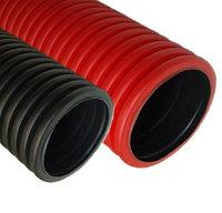 DKC Труба жесткая двустенная для открытой прокладки ПВ-0, УФ,  д.110мм,цветчерный, 6м, без протяжки, фото 1