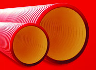 DKC Труба жесткая двустенная для кабельной канализации (12 кПа)д110мм длина 5,70м., фото 1