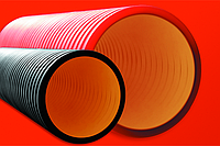 DKC Труба жесткая двустенная для кабельной канализации (10 кПа)д125мм длина 5,70м. ,цвет черный, фото 1