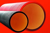 DKC Труба жесткая двустенная для кабельной канализации (8кПа) д160мм,цвет красный, фото 1