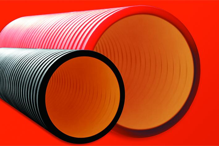 DKC Труба жесткая двустенная для кабельной канализации (8кПа) д160мм, длина 5,70м. ,цвет черный - фото 1