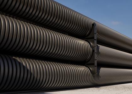DKC Труба жесткая двустенная для кабельной канализации (8кПа) д160мм, длина 5,70м. ,цвет черный - фото 3