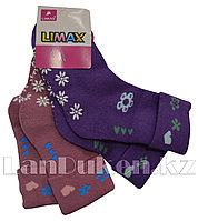 Детские теплые носки Limax 22-25 2 шт. в упаковке (розовые, фиолетовые)
