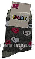 Детские носки Limax 31-34 серые с сердечками