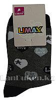 Детские носки Limax 31-34 темно-серые с сердечками