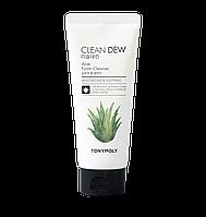 Tonymoly Clean Dew Foam Cleanser Aloe Пенка для умывания на экстракте алое 180 мл