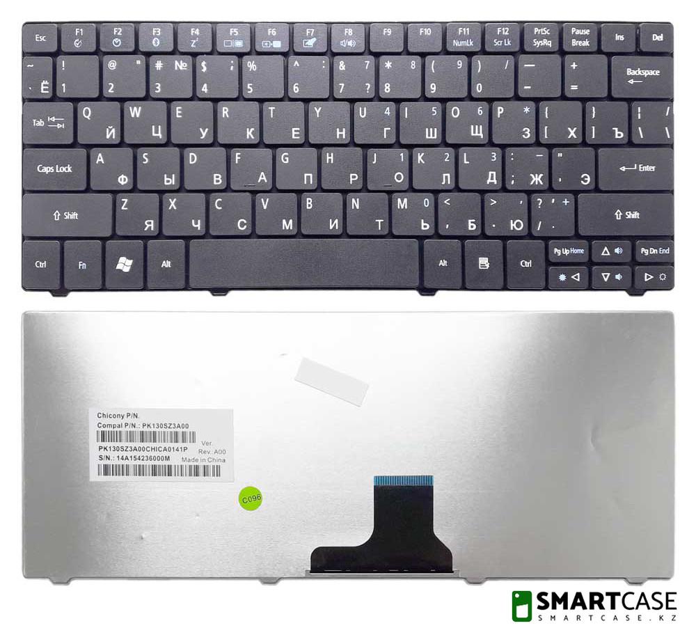 Клавиатура для ноутбука Acer Aspire 1830T (черная, RU)