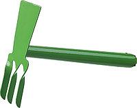 """Мотыга-рыхлитель, РОСТОК 421424, с металлической ручкой, """"лопатка+3 зуба"""" прямая, ширина рабочей части - 60мм"""